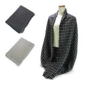 Grid Pattern Stole Stole Scarf Snood