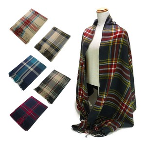 Checkered Stole Stole Scarf Snood