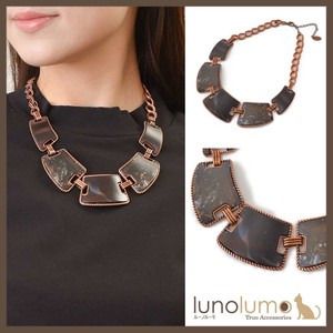 Copper Brown Short Necklace