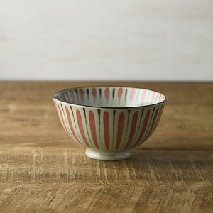 Straw Japanese Rice Bowl Orange MINO Ware