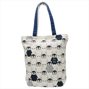Fashion Accessory PEN PEN Loop Zipper Top Canvas Tote Penguin