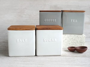 Canister Cheek Powder Cube Porcelain Storage Container