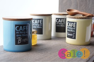Cafe Canister Special Cheek Powder Character Storage Container Pottery