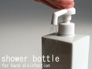 Square Bottle Alcohol Disinfection Refill Food Container White Porcelains