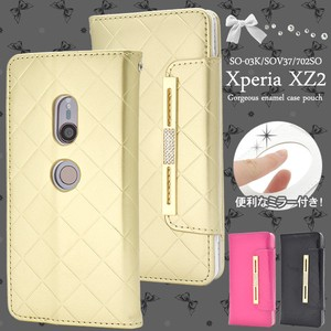 Smartphone Case With Mirror Xperia XZ Enamel Notebook Type Case