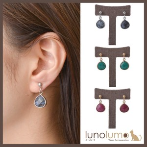 Surface Cut Color Pierced Earring