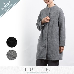 Big Wool Pile Raised Back Front Button Coat