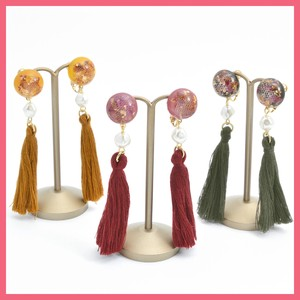 Dry Flower Tassel Earring