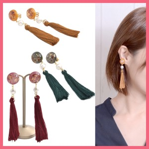 Dry Flower Tassel Pierced Earring