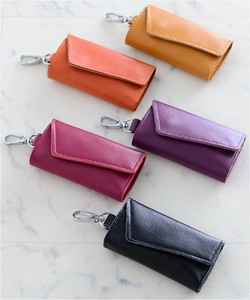 Cow Leather Leather Leather Colorful Key Case