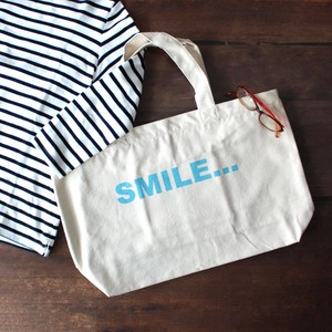 Canvas Zipper Tote SMILE Ply Unisex