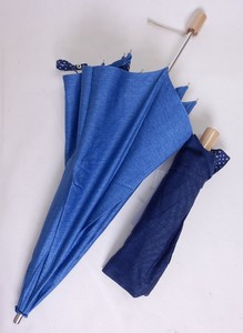 Denim Print Star Pattern Folding Umbrella All Weather Umbrella