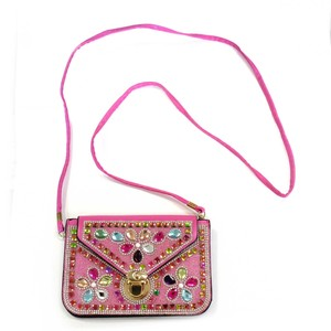 Fashion Accessory Bag Pouch Rhinestone Bag Pink