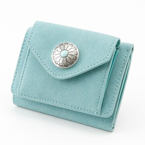 New Color Button Trifold Wallet