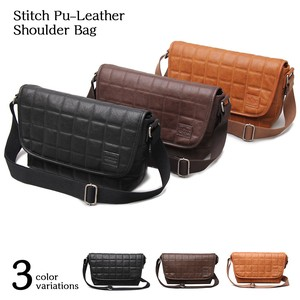 Leather Shoulder Bag Kilting