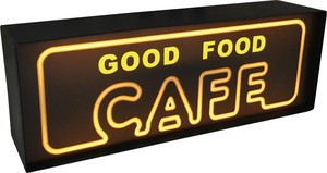 LED Night Light Neon Cafe