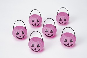 Halloween Pumpkin Candy Pot 6 Pcs Pink