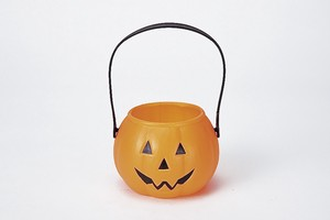 Halloween Pumpkin Candy Pot Orange