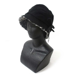 A/W Fashion Accessory Ladies for Women Hats & Cap Ribbon Hat Black