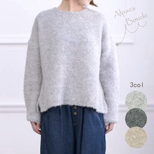 Clearance Sale Alpaca Boucle Knitted Pullover