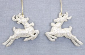 Acrylic Reindeer Ornament Set Gold