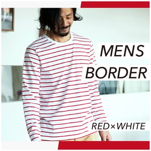 2018 A/W T-shirt Long Sleeve Border Cut And Sewn Jersey Stretch Dyeing Men's