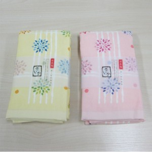 Face Towel Flower Checkered Pattern