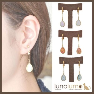 Opal Color Metal Drop Earring