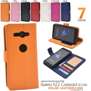 Smartphone Case 7 Colors Xperia XZ Color Leather Notebook Type Case