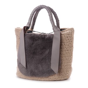 2018 A/W Eco Fur Tape Hand Knitting Tote Bag