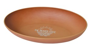 2018 A/W THE BEAVER STATE Series Wood Grain Oval Plate