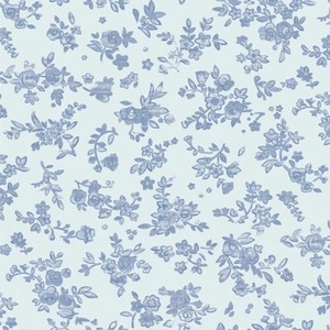 Wrapper Blue Flower Whole Sheet Half Sheet