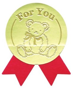 Gift Sticker Ribbon Attached