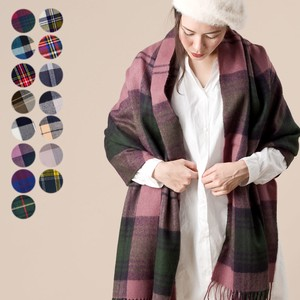 Thick Large Format Checkered Soft Stole 2018 A/W