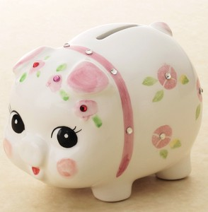 Crystal Piggy Bank Ornament