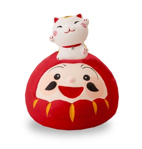 Daruma Welcoming Cat Ornament