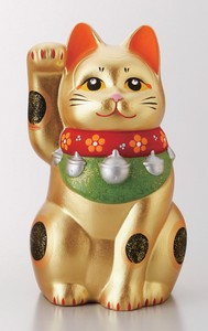 Gold Beckoning cat Ornament