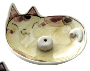 Hand-Painted Cat Incense holder