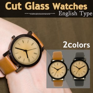 Cut Glass Artificial Leather Wrist Watch Arabia Number Watch