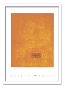 インテリアアート/JURGEN WEGNER/Untitled,1991(orange)