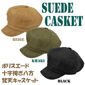 2018 A/W Suede Cross Brahma Casquette Ladies Adjustment Attached Lining Attached