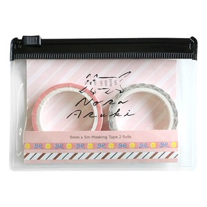 Attached Case Washi Tape Set Pink
