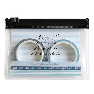 Attached Case Washi Tape Set Blue