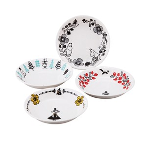 The Moomins The Moomins Valley Pasta Plate 4 Pcs Set