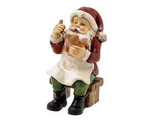 Noel Paint Santa Ornament