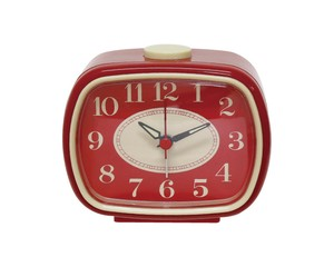Analog Clock Red