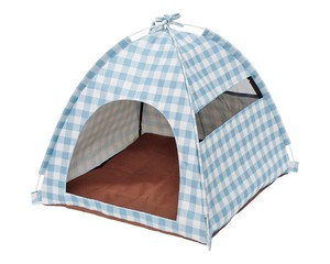 Field Pop Pet Tent Gingham Check