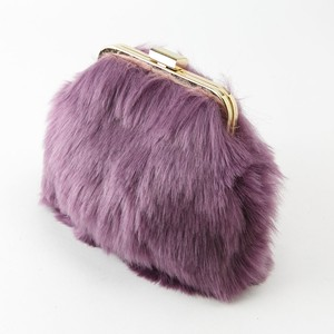 Coin Purse Fur Pouch Ladies Accessory Case Make Pouch