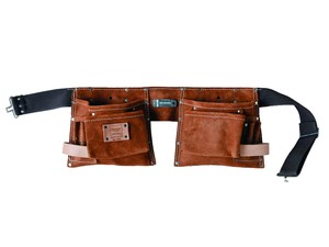 10-Pkt Professional Suede Leather Apron 491 (ツールポーチ 腰袋 レザー)
