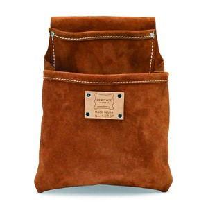 2-Pkt Professional Suede Leather Pouch 483SP (ツールポーチ 腰袋 レザー)